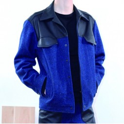 WOOL LEATHER JACKET