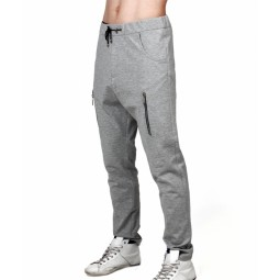 GREY ZIPPED JOGGING PANTS