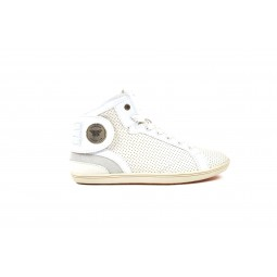 WHITE PERFORATED LEATHER BARONS