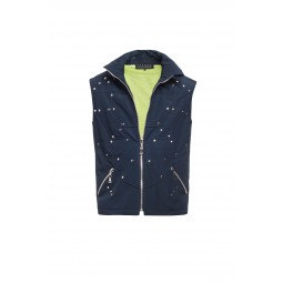 NAVY BLUE SLEEVELESS SPORT JACKET