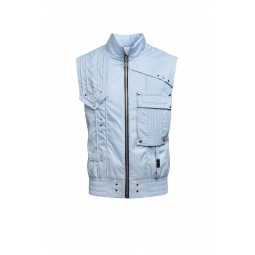 SKY BLUE SLEEVELESS SPORT JACKET