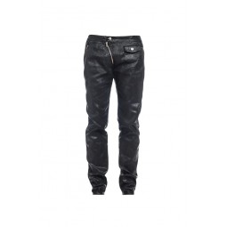 LACQUERED BLACK PANTS FOR MEN TREND