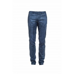 Lacquered blue jean