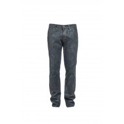 Lacquered grey jean