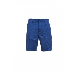 BLUE COBALT COTTON SHORT PANTS