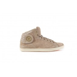 Barons cuir suede taupe