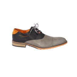 "BLACK / GREY ""CARIOCA"" SHOE"