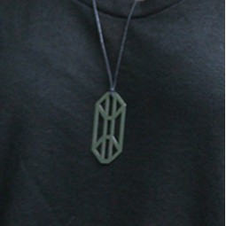 Outline Tag Pendant
